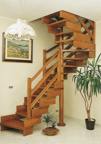 Fabbrica scale a chiocciola a giorno e retratti in legno e metallo casellari - Scale a chiocciola in legno prezzi ...